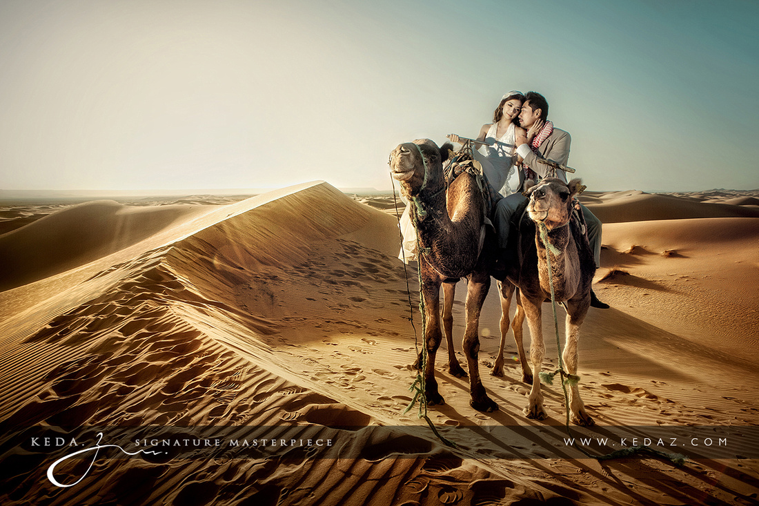 Love in Sahara desert. 爱在撒哈拉大沙漠。